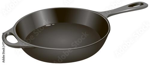 Cast iron frying pan - 75698134