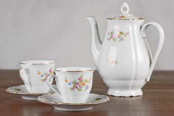 Classical porcelain tea set
