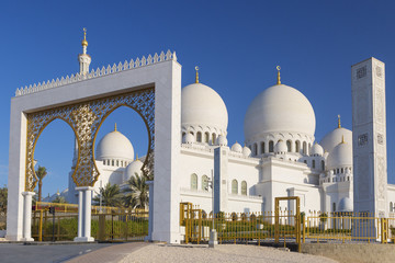Beautiful view of Sheikh Zayed Grand Mosque
