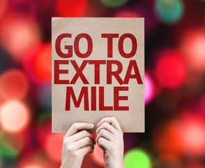 Go To Extra Mile card with colorful background