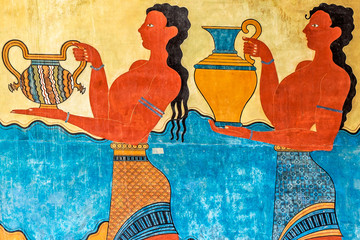 Procession Fresco at Knossos Palace