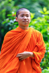 Portrait of Young Buddhist Monk