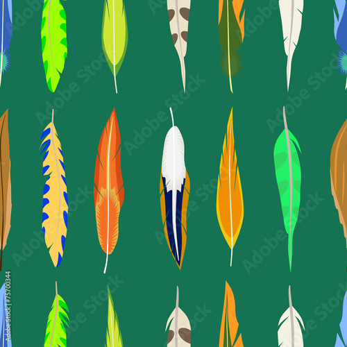 Soft feather seamless vector background from Volodymyr ...