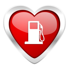 petrol valentine icon gas station sign