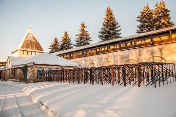 Reserve Museum Spaso-Preobrazhensky monastery in Yaroslavl.