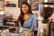 Portrait Of Female Coffee Shop Owner