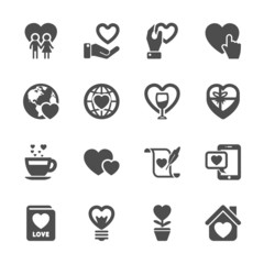 love and valentine icon set 3, vector eps10