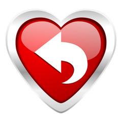 back valentine icon arrow sign