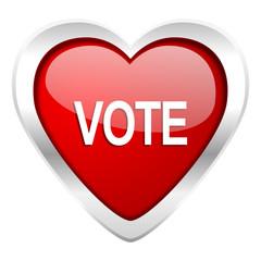 vote valentine icon