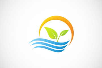 water eco plant logo