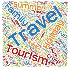 Conceptual tourism word cloud