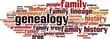 Genealogy word cloud concept. Vector illustration - 75703381