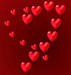 herzen Valentinstag
