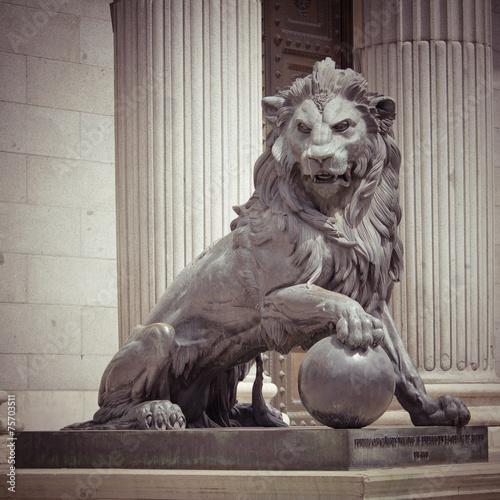 Leinwanddruck Bild Lion