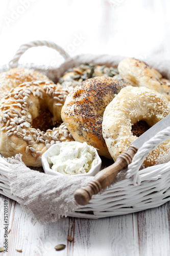 Tuinposter Brood Homemade bagels