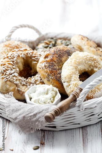 Foto op Canvas Brood Homemade bagels