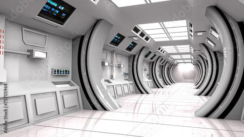 Poster Industrial geb. Futuristic interior SCIFI