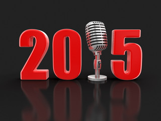 Microphone with 2015 (clipping path included)
