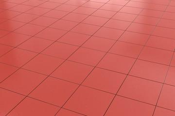 red tiled floor background
