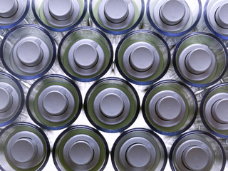 View zenith of jars for cosmetics
