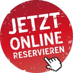 Button jetzt online reservieren rot