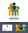 family. Logo, icon, emblem, template, business card