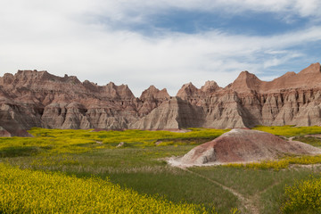 Badlands Mountain Formations