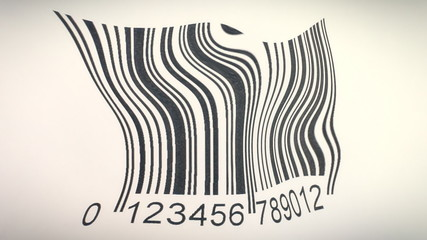 Barcode reading difficult distorted