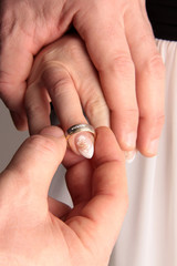 Heiraten Fingerring Fingernagel