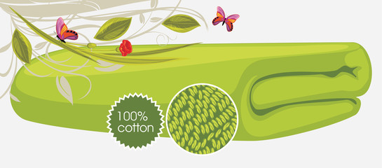 Bath towel. Label for design