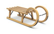 Curly wooden sled - 75708377