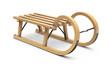 Leinwanddruck Bild - Curly wooden sled