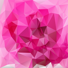 vector polygonal background triangular pink rose