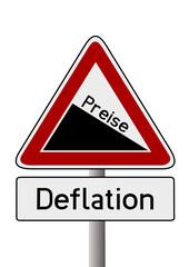 Gefälle Deflation