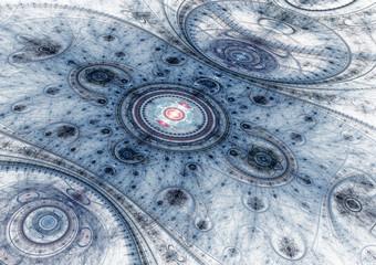 Blue abstract julian fractal