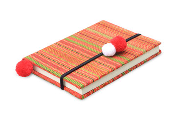 Colorful notebook on white background
