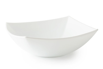 White square deep plate