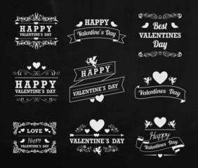 Valentines Day with chalk
