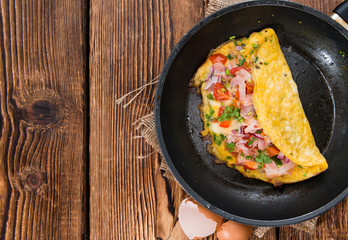 Homemade Ham and Cheese Omelette