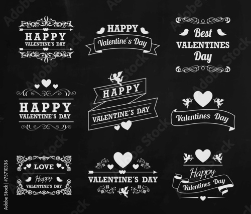 Valentines Day with chalk - 75710336