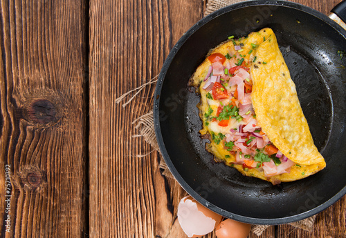 Homemade Ham and Cheese Omelette - 75710392