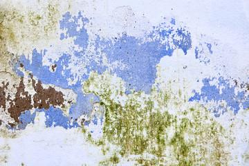 Fondo de pared pintada y desconchada