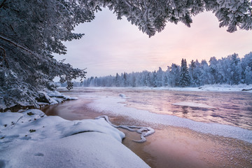 Winter scenery from Finnish nature