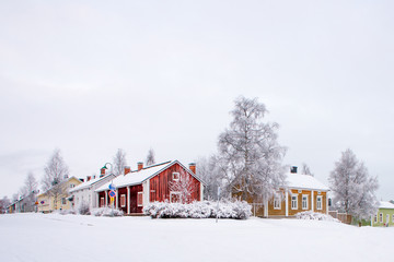 Winter scenery from Oulu Finland