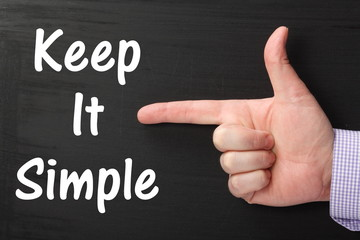 Pointing a Finger at Keep It Simple on a Blackboard
