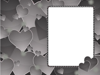 gray heart background