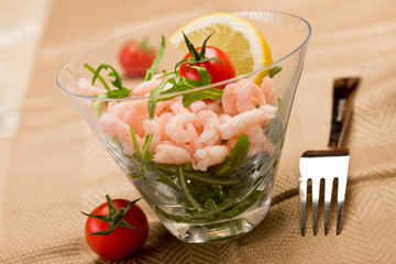 Shrimps cocktail appetizer