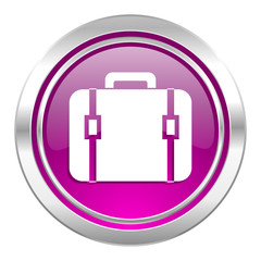 bag violet icon luggage sign