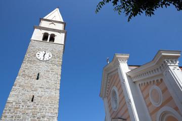 Izola, the belfry and church of St. Maur - Slovenia
