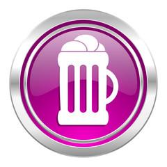 beer violet icon mug sign